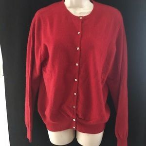 AUTOGRAPH MARKS & SPENCER WOMENS RED CARDIGAN M